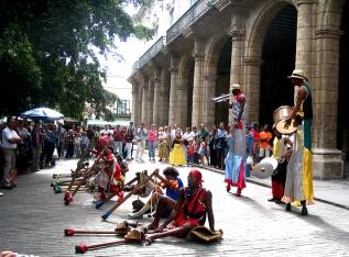 Havana'da bir sokak gösterisi