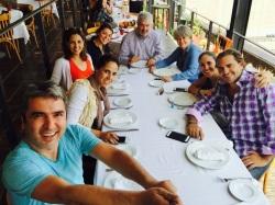 Mexico City merkezinde öğlen yemeği