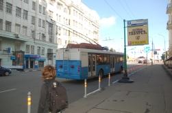 Bir zamanlar İstanbul'da da dolaşan troleybüsler burada da var. Eski, ama egzost ve gürültü yok.
