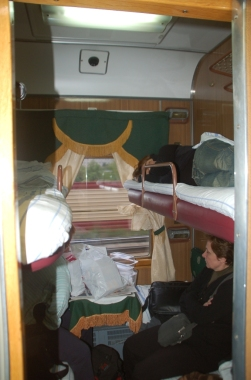 Moskova-St Petersburg yataklı treni