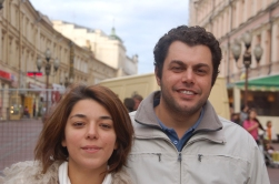 Moskova'nın ünlü Arbat sokağında